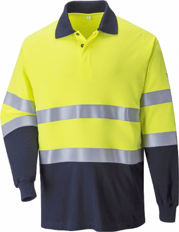 FR74 Flame Resistant Anti-Static Two Tone Polo Shirt